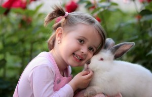 girl-rabbit-friendship-love-
